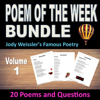 Poem of the Week Bundle Vol.1 (20 Poems & questions)NO PRE