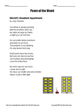 Poem of the Week Worlds Smallest Apartment