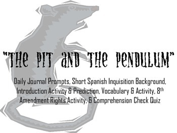 """Poe's """"The Pit and the Pendulum"""" Introduction Activity PPT"""