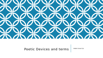 Poetic Devices and Terms