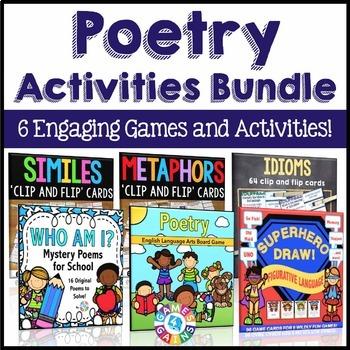 Poetry Activities Bundle (Similes, Metaphors, Idioms, & Po