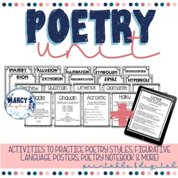 Poetry Activities  4th grade and 5th grade