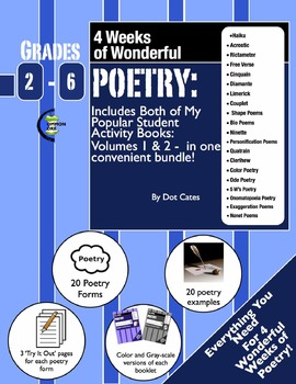 Poetry: A 4-Week Unit Featuring 20 Poetry Forms! Gr. 2-6 S