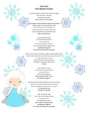 "Poetry Activity Using ""Let It Go"" from Disney's Frozen"