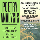 "Poetry Analysis: Emily Dickinson's ""Went to Thank Her"""