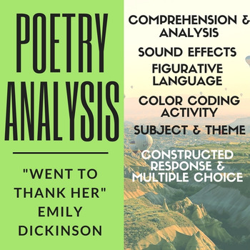 """Poetry Analysis: Emily Dickinson's """"Went to Thank Her"""""""
