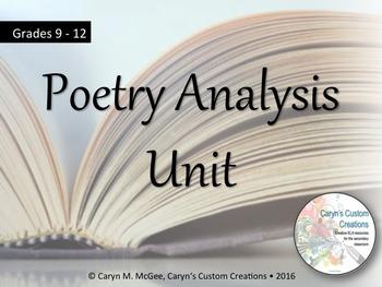 Poetry Analysis Unit