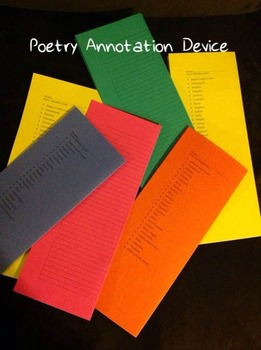 Free Poetry Annotation Device
