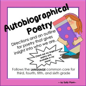 Autobiographical Poetry Template