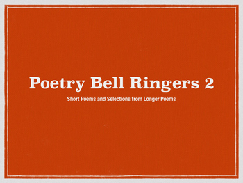 Poetry Bell Ringers 2 (Short Poems for Junior High and Hig