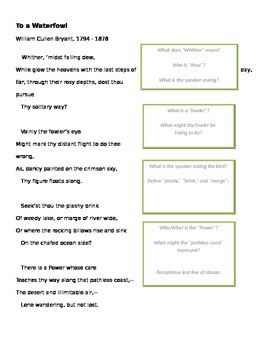 """Poetry - Close Reading of """"To a Waterfowl"""""""