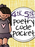 Close Read Poetry 4th - 5th grade for Theme, Stanzas & Fig