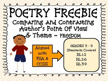 Poetry Comprehension - Aligned with FSA (FREEBIE)