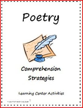 Poetry Comprehension Strategies Learning Center Activities