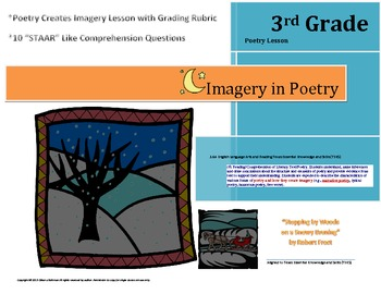 """Poetry Creates Imagery Lesson, Rubric, & """"STAAR"""" like Comp"""