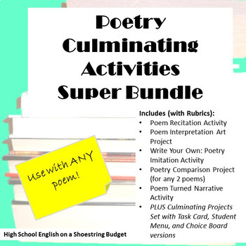 Poetry Culminating Activities Super Bundle (For Any Poem) -Word