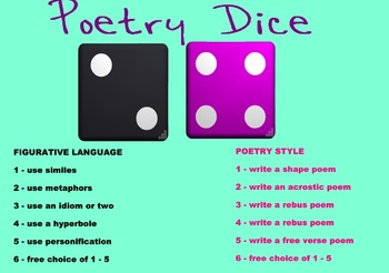 Poetry Dice Activity