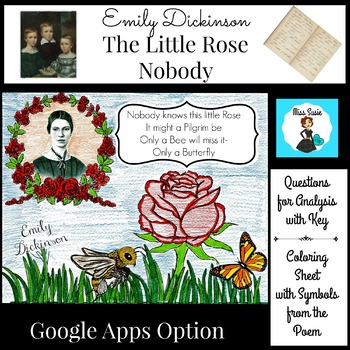 Poetry Emily Dickinson Little Rose and Nobody Questions, P