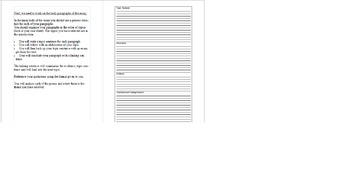 Poetry Essay Scaffold