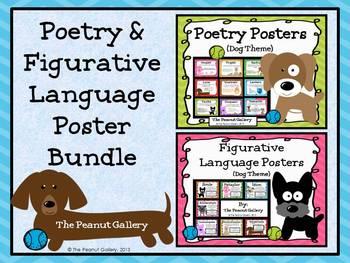 Poetry & Figurative Language Poster Bundle (Dog Theme)