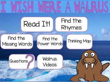 """Poetry Flipchart for ActivInspire: """"I Wish I Were a Walrus"""""""