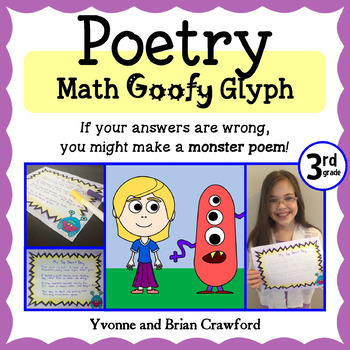 Poetry Math Goofy Glyph (3rd Grade Common Core)