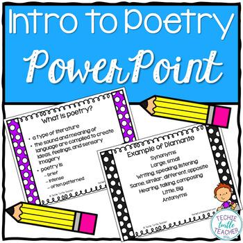 Poetry (Diamante, Quatrain, Free Verse) Introduction PowerPoint