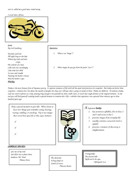 Poetry Introduction and Activities