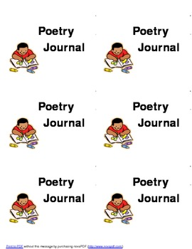 Poetry Journal:  Labels