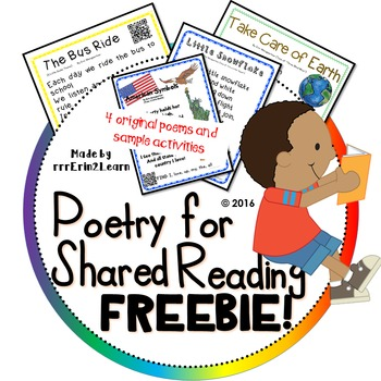 Poetry Kindergarten Shared Reading Free