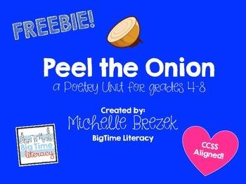 Peel the Onion: Poetry Unit Freebie