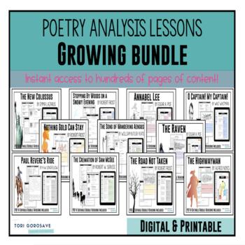 Poetry Lessons: ** Growing Bundle ** {Google Digital Resource}