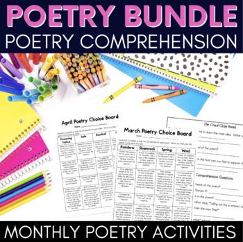 Poetry Literacy Center Bundle