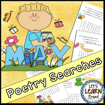 May Poetry, Word Searches, Spring Theme, With Original Poetry