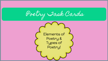 Poetry Note Cards