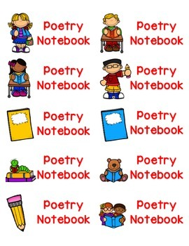 Poetry Notebook Labels