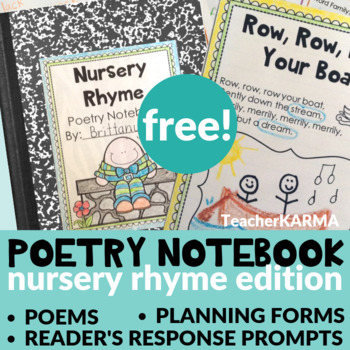 Poetry Notebook Nursery Rhymes FREE RESOURCE