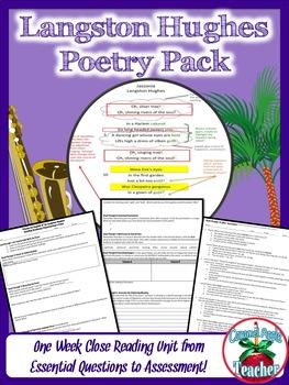 Poetry Pack Mini Unit for Langston Hughes