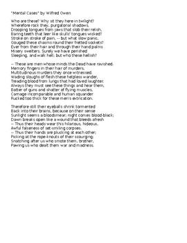 Poetry Pairing: Macbeth and Wilfred Owens