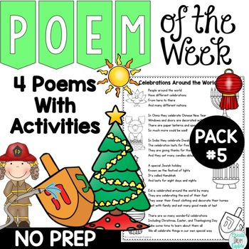 Poem of the Week Activities and Original Poetry