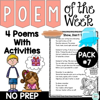 Poem of the Week Activities with Original Poetry
