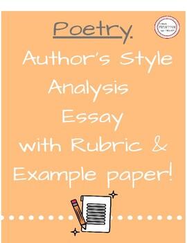 Poetry- Poet Style Analysis- Freshman