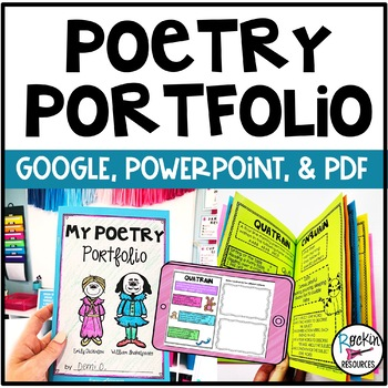Poetry Portfolio (Booklet) with Cute Student Templates!