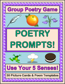 """Poetry Prompts"" - Write Poems Using Your Five Senses!"