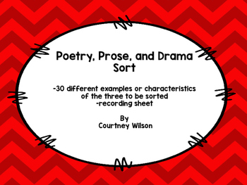 Poetry, Prose, and Drama Sort