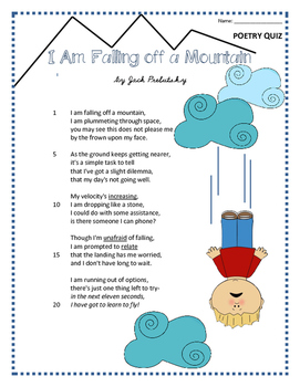 Poetry Quiz- I am Falling off a Mountain
