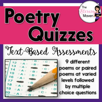 Poetry Quizzes: Text-Based Assessments with Multiple Choic