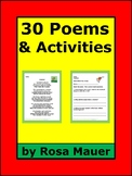 30 Poems with Comprehension Questions for Poetry Unit
