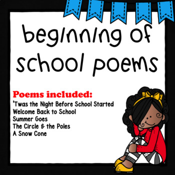 First day of School Poems