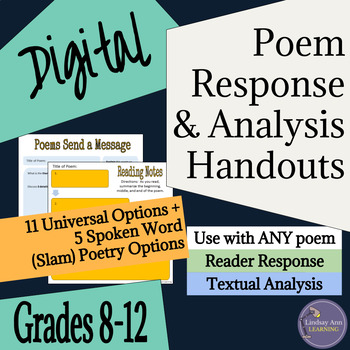 Poetry Response & Analysis for Traditional & Slam Poetry,